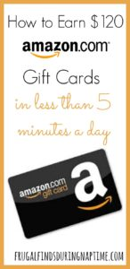 How I Spend Less Than 5 Minutes a Day and Earn $120 in Amazon Gift Cards a Year