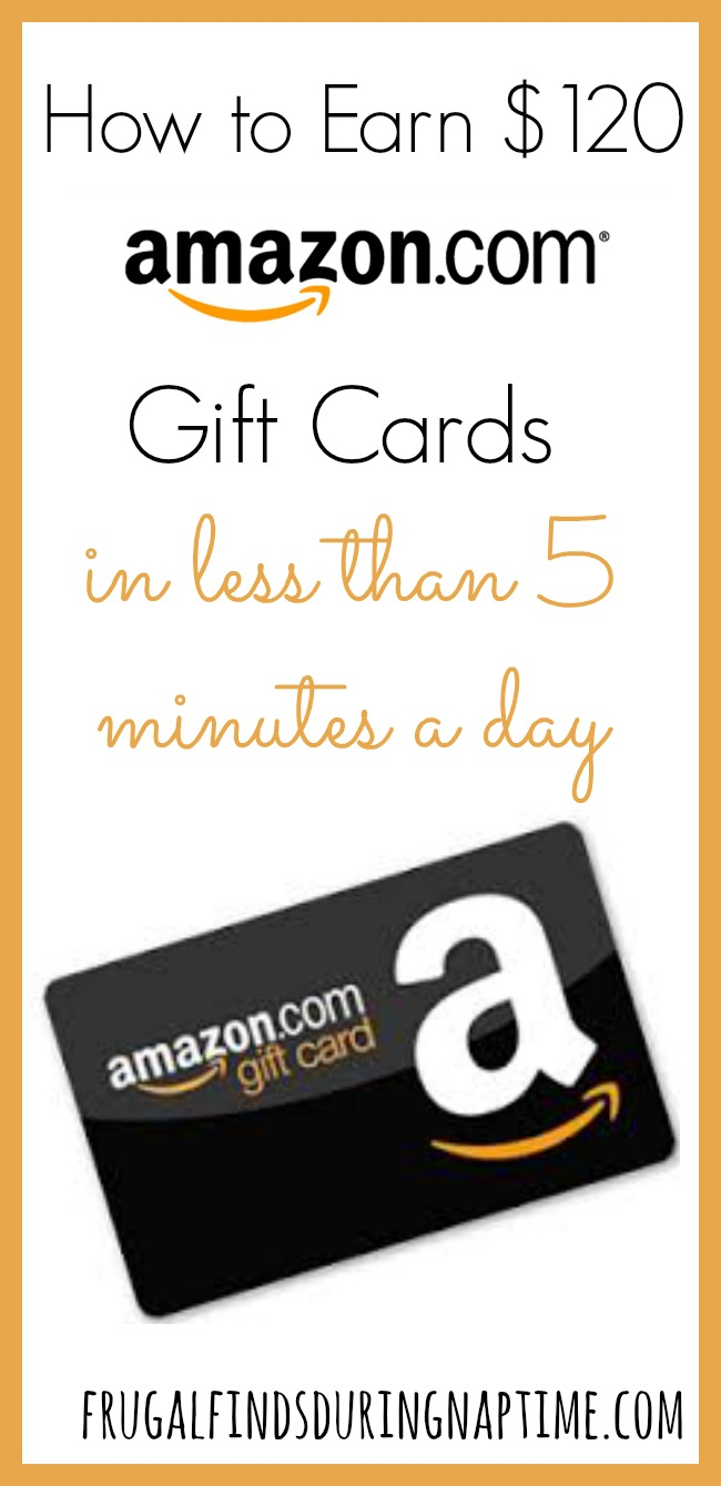 If you love shopping online at Amazon, you will love how easy it is to earn FREE Amazon Gift Cards in less than five minutes per day!