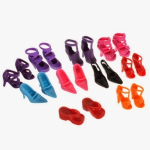 10 Pairs of Barbie Shoes $1.97 SHIPPED