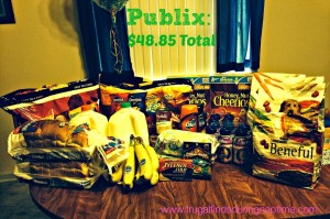My Publix Trip: $48.85 for $127.86 in groceries