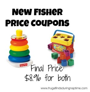 Walmart:: Fisher Price Brilliant Basics Rock-a-Stack $2.99 + Fisher Price Coupons
