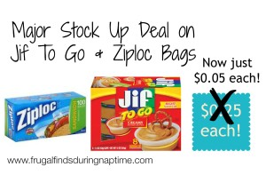 UPDATED:: Publix:: MAJOR Stock Up Deal on Jif To Go & Ziploc Bags