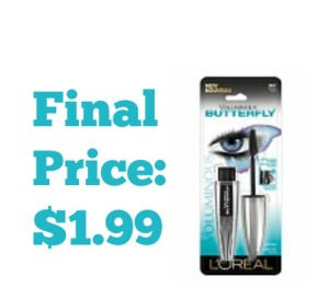 L'Oreal Voluminous Mascara $1.99