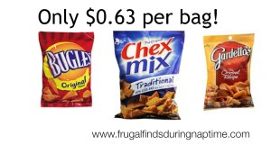 Walgreens:: Chex Mix, Bugles, and Gardetto's $0.63