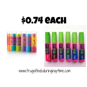Target:: Maybelline Great Lash Mascara and Baby Lips Balm $0.49