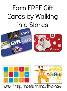 30 Days to Change:: Day 15–Earn FREE Gift Cards by Walking in Stores