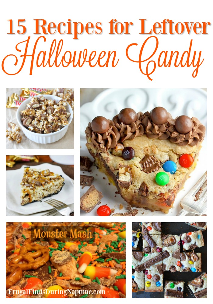 Too much Halloween Candy laying around the kitchen? Try one of these delicious recipes to use the candy!