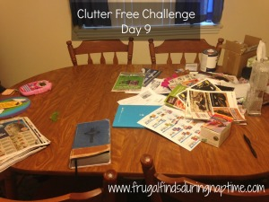 31 Days to Clutter Free Challenge:: Day 9–Dining Room