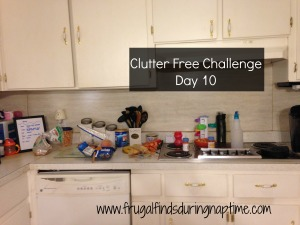 31 Days to Clutter Free Challenge:: Day 10–Kitchen Counters