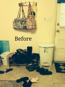 31 Days to Clutter Free Challenge:: Day 2–Entry Way