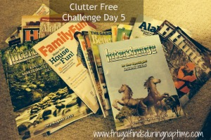 31 Days to Clutter Free Challenge:: Day 5–Books & Magazines