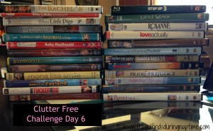 31 Days to Clutter Free Challenge:: Day 6–DVDs & Video Games