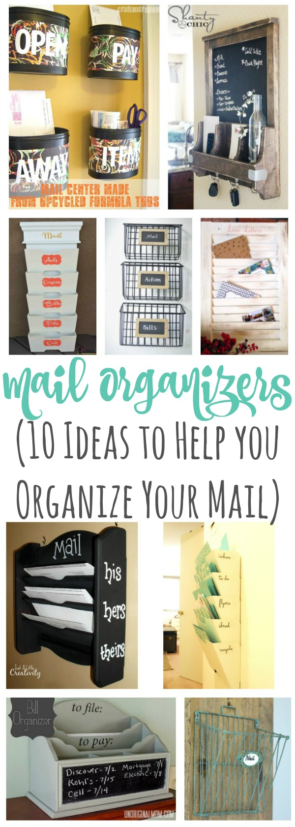 Get rid of the mail clutter with these ideas on how to creatively and easily organize your mail.