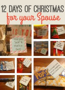 Spice up your marriage and surprise your spouse with twelve gifts just for him with these ideas from @FFDNT.