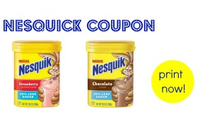 New Nesquick Coupon:: Makes it 8¢ per Serving at Target
