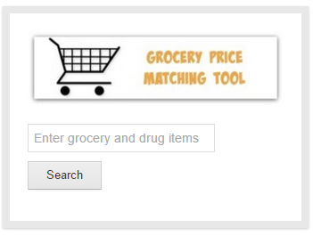 grocery price matching tool on site