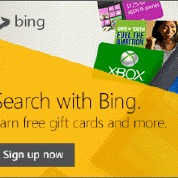 Earn FREE Gift Cards with Bing Rewards