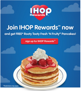 FREE Pancakes at IHOP on Tuesday March 3