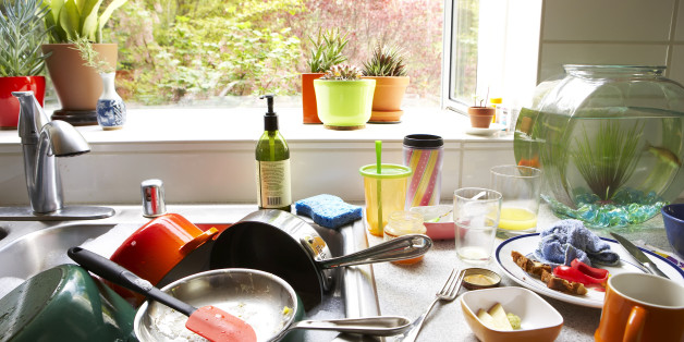 I was tired of being overwhelmed by a sink full of dirty dishes! I have adopted a sure fire way to have a sparkling clean kitchen every day and I'm sharing the secret with you!