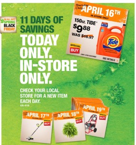 **HOT** 150 oz Tide $7.63 TODAY ONLY!!