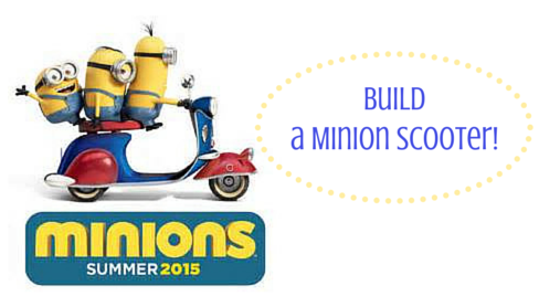 Register your child to build a FREE Minion Scooter at Home Depot! #Minions #diy #frugal