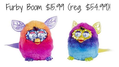 Save 70% on a Furby Boom (today only)! That makes them just $15.99! Be ahead of the game and pick one up for Christmas!