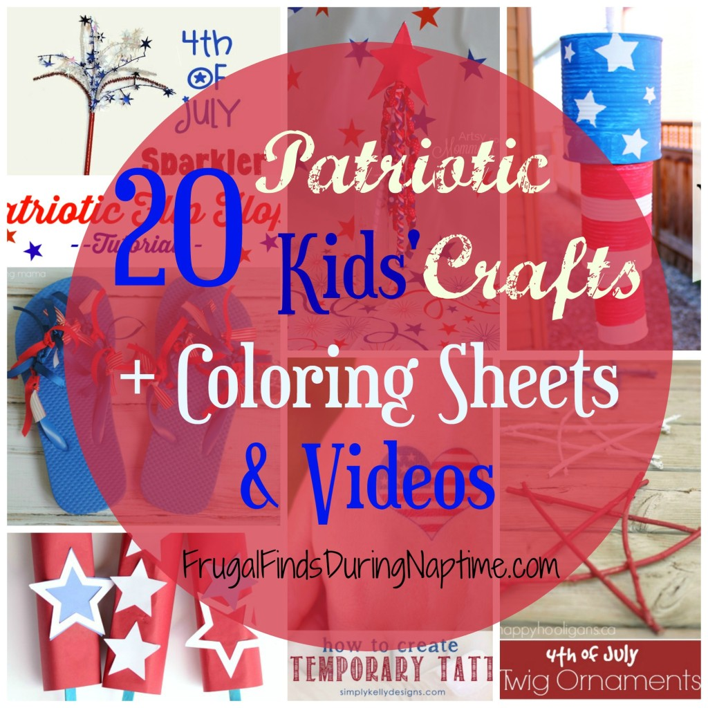 Keep your kiddos entertained with these 20 crafts, coloring sheets, and videos while you prepare for that BBQ!