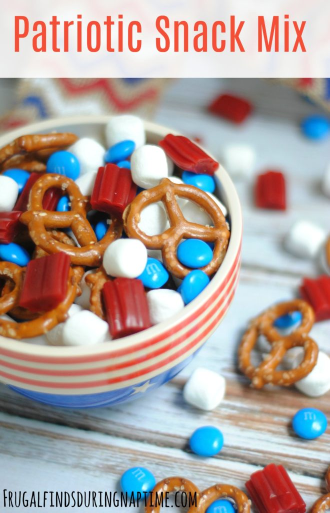 Make this super easy snack mix to take to the 4th of July Barbecue or Memorial Day Cookout!