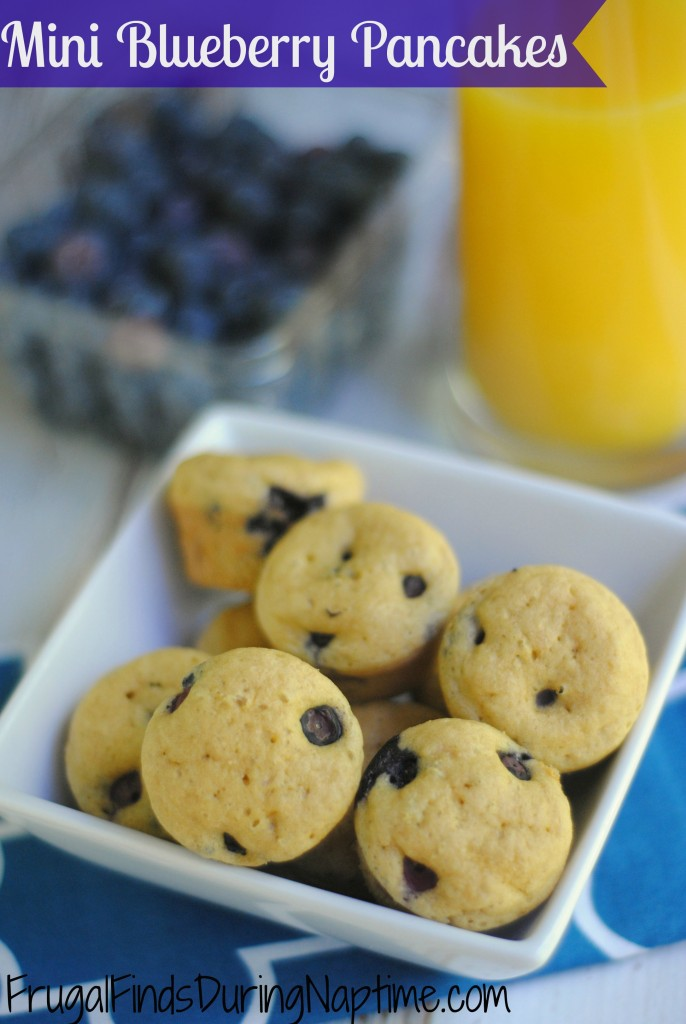 Make blueberry pancakes for your kiddos without standing over a hot griddle! This is a super easy recipe!
