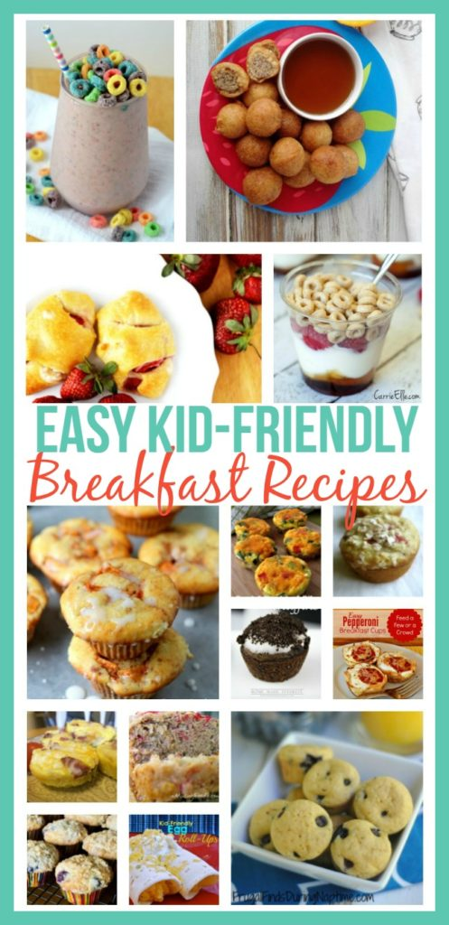 Here is a round up of easy, kid friendly breakfast recipes to give your kids a good breakfast and make it out the door to school on time.