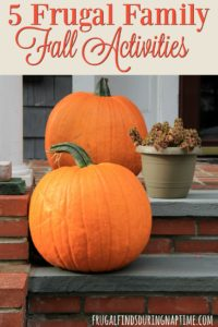 Fall is the perfect time to spend time outdoors with your family, but without spending a ton of money. Here are 5 frugal activities you can do with your family in the fall.
