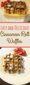 These cinnamon roll waffles are SUPER easy to make and will have your whole family asking for more!