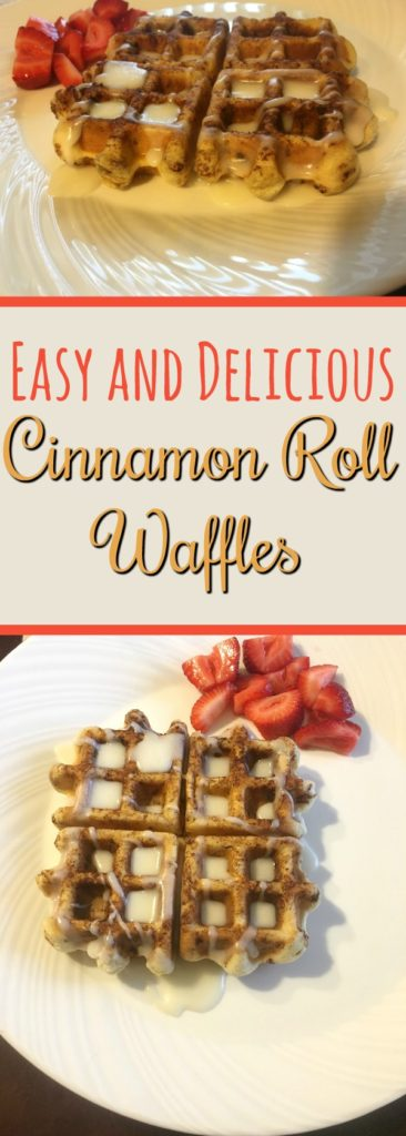 Try a twist on traditional cinnamon rolls with this easy Cinnamon Roll Waffle Recipe that will have your family asking for more!