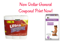 New Dollar General Printable Coupons:: Baby Diapers, Toilet Paper, and More!