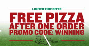 FREE Large 3-Topping Pizza from Papa John's!