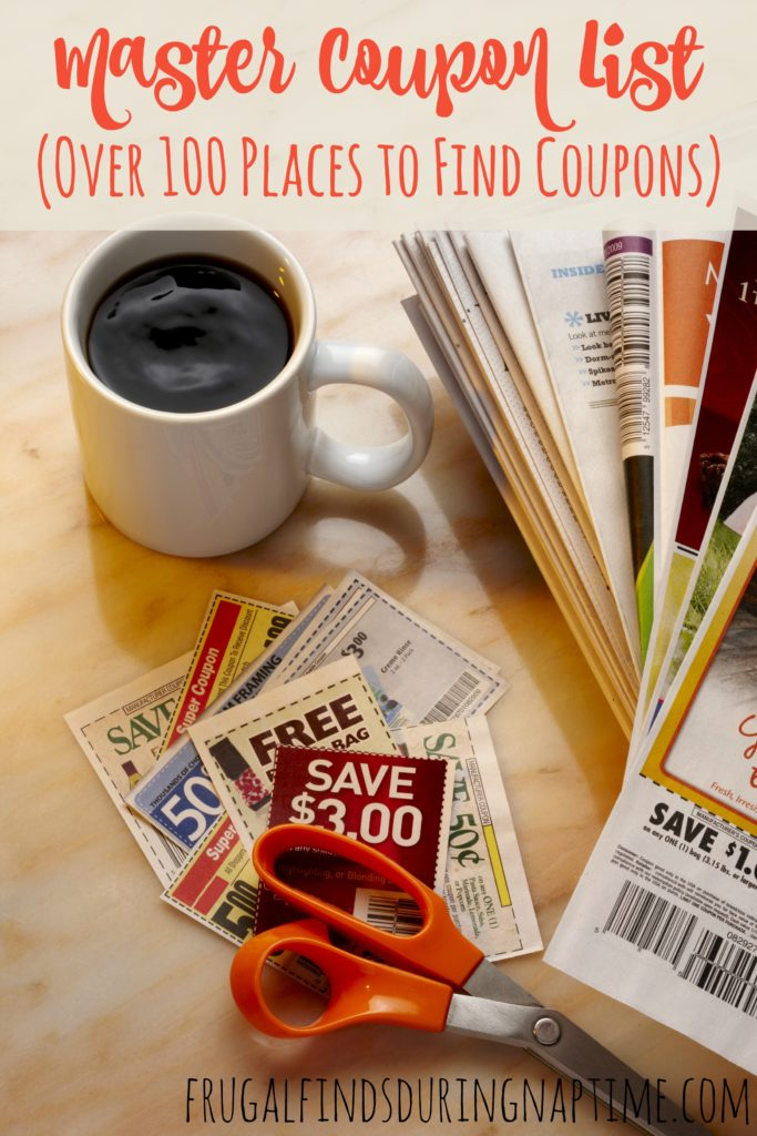 Check out this huge list of coupons to save on everything from diapers to organic foods. Never pay full price again!