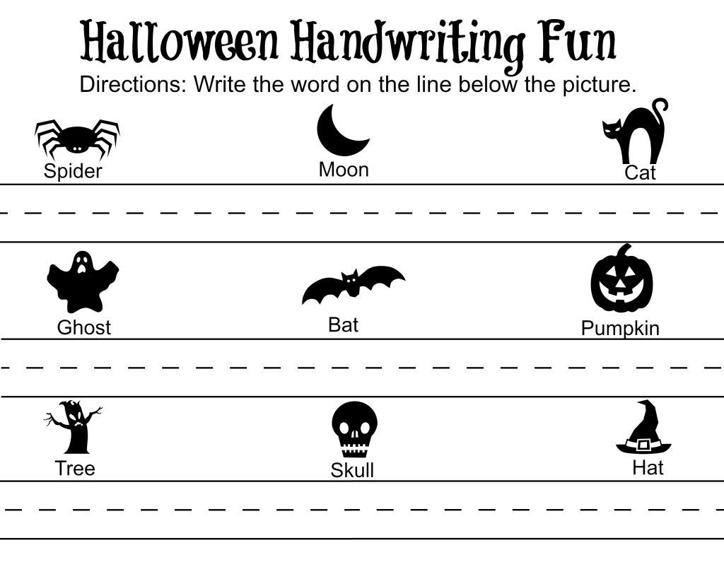 Halloween Handwriting Fun 2