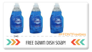 FIVE FREE Bottles of FREE Dawn Dish Soap! Print Now!!