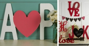 Personalized Letters + Heart $12.99 for a Valentine's Day DIY Project!
