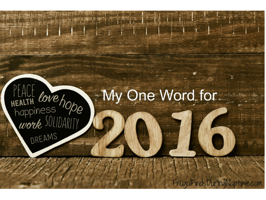 After a lot of personal growth and struggles in 2015, I've picked one word to focus on in 2016.