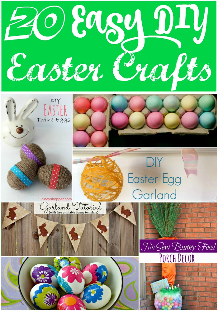 Get crafting with one of these easy DIY Easter Crafts. #DIY #Easter #Crafting