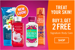 Buy 3 Get 2 FREE Signature Body Care + FREE Shipping!