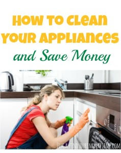 How to Clean Your Appliances {and Save Money}