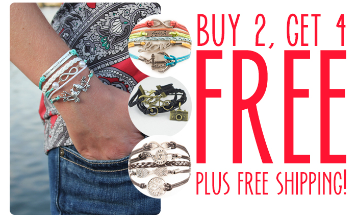 Hurry on over to grab FOUR FREE bracelets plus FREE shipping! This is a great time to grab some gifts for the gift closet!