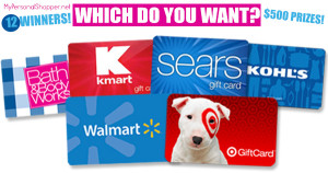 $500 Gift Card Giveaway! {12 Winners!}