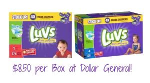 Luvs Boxed Diapers $8.50 at Dollar General!