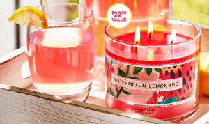 *HOT* FREE 3-Wick Watermelon Lemonade Candle! Today Only!