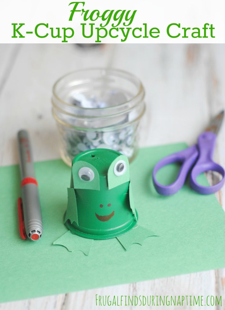 Don't throw out those empty K-Cups! See how you can upcycle it to make this cute frog craft!
