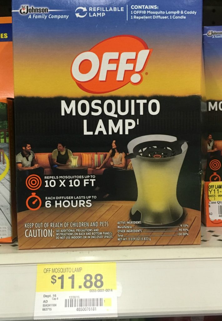 Off! Mosquito Lamp $9.88.