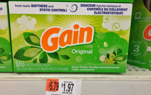 Walmart:: Gain Dryer Sheets Only 30¢